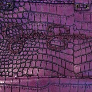 Jessica Simpson shoulder bag. Purple animal print